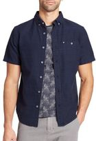 Madison Supply Woven Jacquard One-Pocket Sportshirt