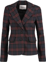 Derek Lam 10 Crosby Plaid stretch-knit blazer