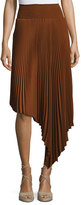 A.L.C. Sofia Asymmetric Pleated Midi Skirt, Chocolate