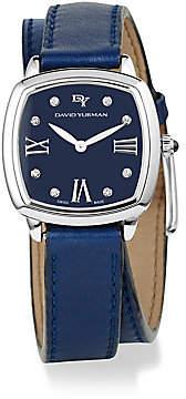 David Yurman Women's Albion 27MM Leather Swiss Quartz Watch with Diamonds