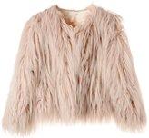 Samgoo Women's Vintage Solid Color Faux Fur Winter Warm Short Coat (XL, )