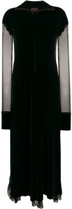 Romeo Gigli Pre Owned 1990s Velvet Effect Sheer Panels Dress