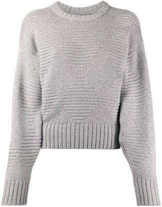 Pringle blouson-sleeved diamond-knit sweater