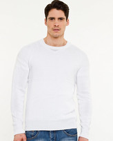 Le Château Linen Blend Crew Neck Sweater