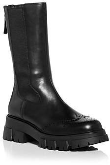Ash Women's Lennox Wingtip Block Heel Combat Boots