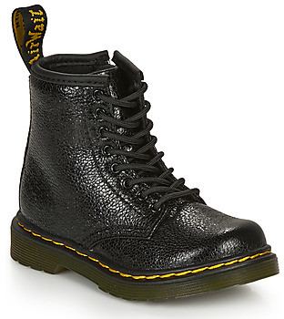Dr. Martens 1460 T CRINKLE girls's Mid Boots in Black