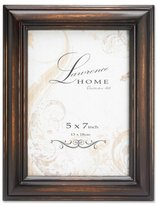 Lawrence Frames Wood Picture Frame, 5 by 7-Inch, Weathered Espresso