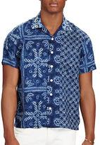 Polo Ralph Lauren Indigo Shibori Linen Camp Shirt