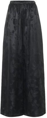 Balenciaga Wide-leg floral-jacquard pants