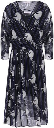 Chloé Printed Silk-chiffon Wrap Dress
