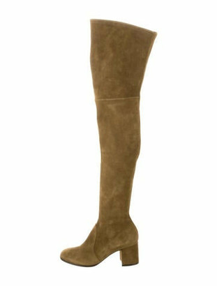 Gianvito Rossi Suede Over-The-Knee Boots w/ Tags Olive
