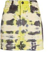 Hudson Jeans Viper Tie-Dye Denim Skirt