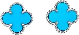 Van Cleef & Arpels Sweet Alhambra Turquoise White gold Earrings