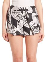 KENDALL + KYLIE St. Tropez Printed Silk Shorts