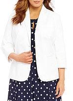 Lauren Ralph Lauren Plus Twill Two Button Jacket