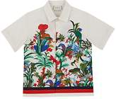 Gucci Kids' Jungle-Print Cotton Shirt