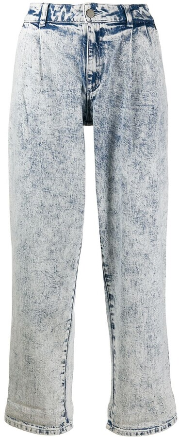 MICHAEL Michael Kors Mid Rise Acid Washed Jeans