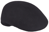 John Lewis Wool Moulded Flat Cap, Black