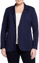 Tart Tess Long-Sleeve Knit Blazer, Black Iris, Women's
