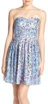 Charlie Jade Print Strapless Minidress