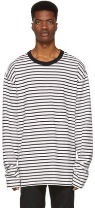 Diesel Black and Off-White T-Daichi Long Sleeve T-Shirt