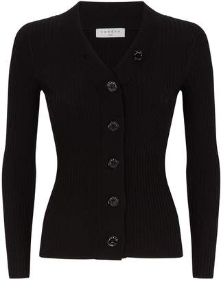 Sandro Ribbed Cardigan