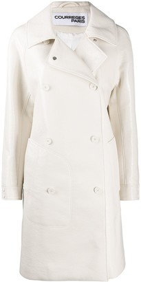 Courreges Spread Double-Breasted Coat