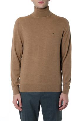Light Brown Turtle-neck Wool Sweater