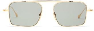 Jacques Marie Mage Scarpa Square Titanium Sunglasses - Green
