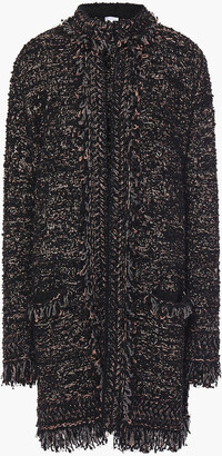 M Missoni Frayed Metallic Boucle-knit Coat