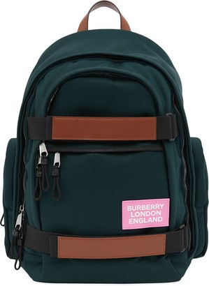 Burberry Nevis leather trim backpack