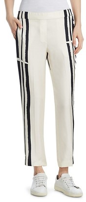 Theory Striped Silk Pants