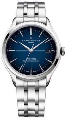 Baume & Mercier Clifton Baumatic Stainless Steel Bracelet Watch