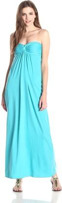 Star Vixen Women's Strapless Twist Front Sweetheart Maxi Dress