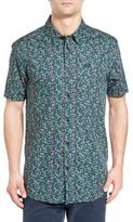 RVCA Men's Top Poppy Print Woven Shirt