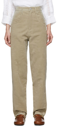 Isabel Marant Beige Relaxed Debora Trousers