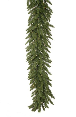 Vickerman 9-foot x 16-inch Camdon Garland Dura-Lit with 150 Clear Lights