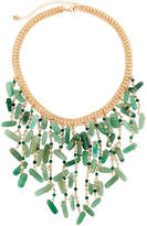 Lydell NYC Statement Bib Necklace, Green
