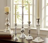 Pottery Barn Eclectic Silver-Plated Candlesticks