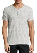 John Varvatos Broken Striped Henley