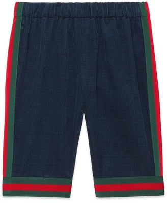 Gucci Baby corduroy trousers with Web