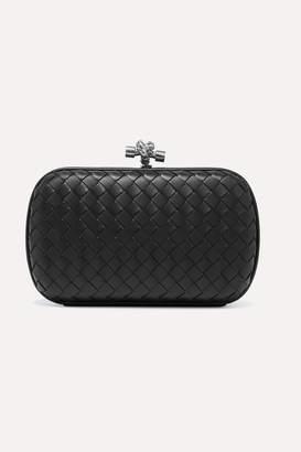 Bottega Veneta Chain Knot Intrecciato Leather Clutch - Black