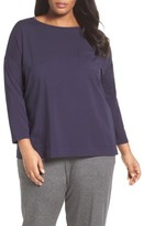 Eileen Fisher Plus Size Women's Organic Cotton Jersey Tee
