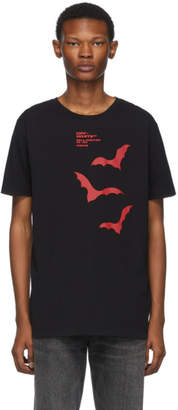 Off-White Black and Red Bats Slim T-Shirt