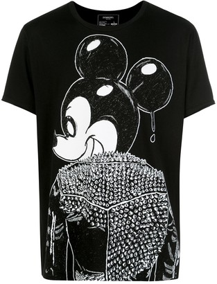 Dom Rebel rebel Mickey Mouse print T-shirt