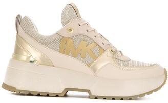 MICHAEL Michael Kors Mickey metallic platform sneakers