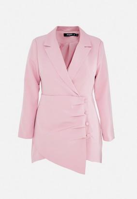 Missguided Plus Size Blush Ruched Side Blazer Dress