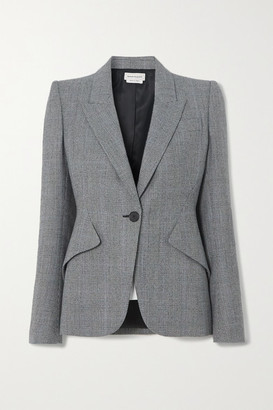 Alexander McQueen Prince Of Wales Checked Wool And Cashmere-blend Blazer - Gray