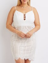 Charlotte Russe Plus Size Lace Skirt Bodycon Dress
