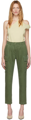 pushBUTTON Khaki Back-Up Cargo Trousers
